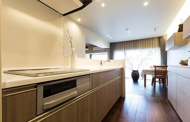 半オープン型キッチン4