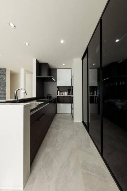 半オープン型キッチン1